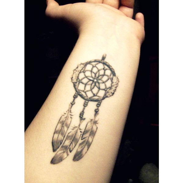 dream catcher tattoo | Tumblr ❤ liked on Polyvore featuring tattoos