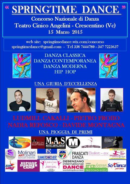 15/03/2015 Springtime Dance - Concorso di Danza LUOGO: Teatro Cinico Angelini - via Manzoni REGIONE: Piemonte PROVINCIA: Vercelli CITTA': Crescentino (Vc) http://www.weekendinpalcoscenico.it/portale-danza/doc.asp?pr1_cod=4607#.VQHoto6G9V1