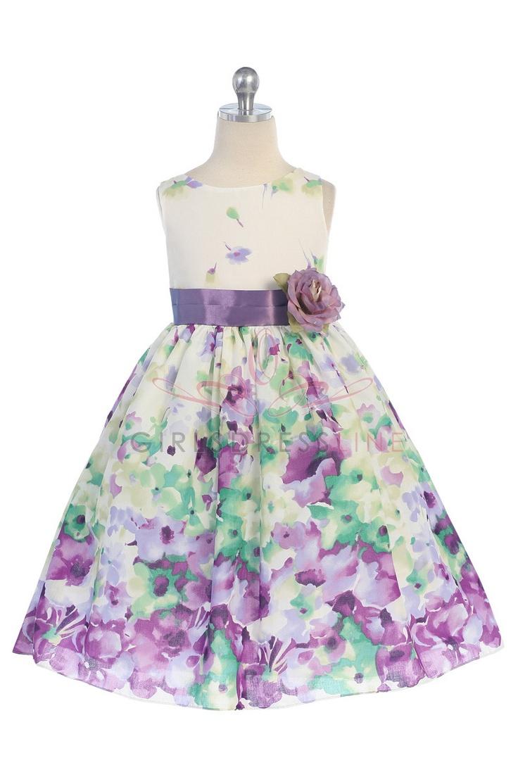 The 25 best flower girl dress patterns ideas on pinterest lavender fine cotton flower printed flower girl dress k303 lv 3895 on girlsdressline ombrellifo Choice Image