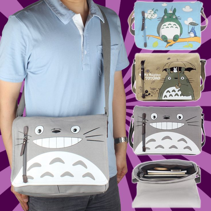 My Neighbour Totoro High Quality Canvas Bag Shoulder Messenger Bag Trendy Anime