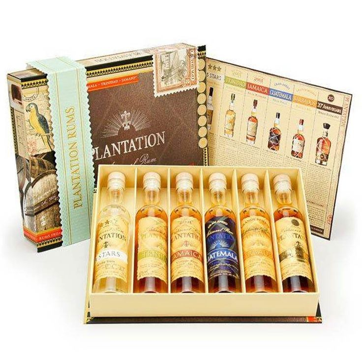 This selection of 6 Plantation rums in cigar-box style pack is the perfect way to sample your way through this premium range of Caribbean rums.