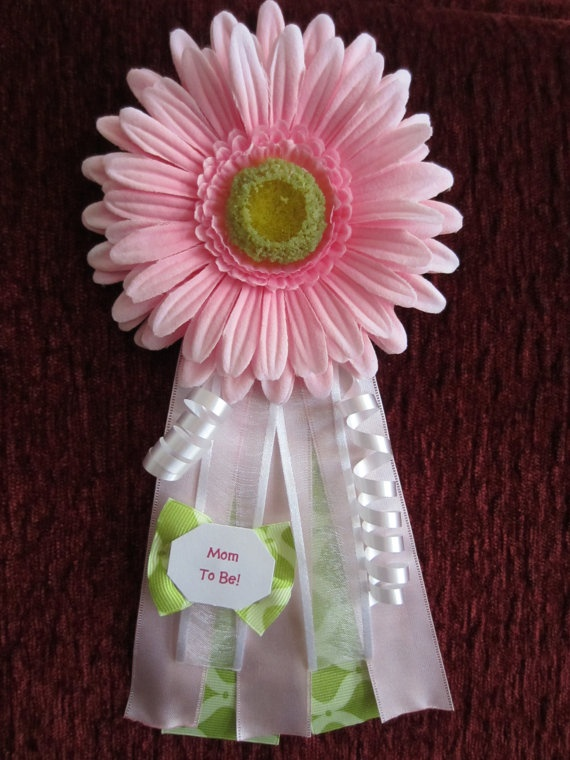 Pink Daisy Baby Shower Corsage... I really like this one