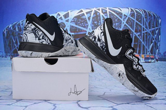 cheap for discount 60f80 1d3b5 Nike Kyrie 5 Black Grey Men s Basketball Shoes Irving Sneakers