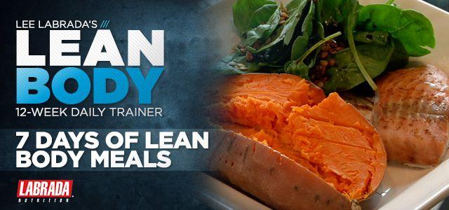Lee Labrada's 12-Week Lean Body Trainer | Lean body, Meals