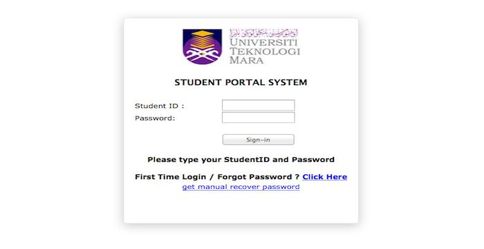 UITM Student Portal Login