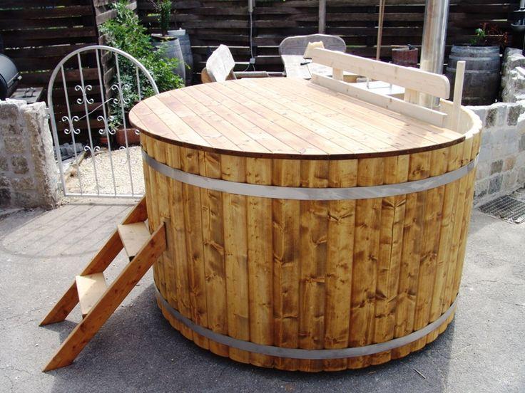 madera jacuzzi crculo