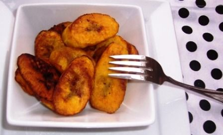 Tajadas...my absolute favorite food that my mom makes from Colombia...most people know these as fried plantain...I know them as tajadas