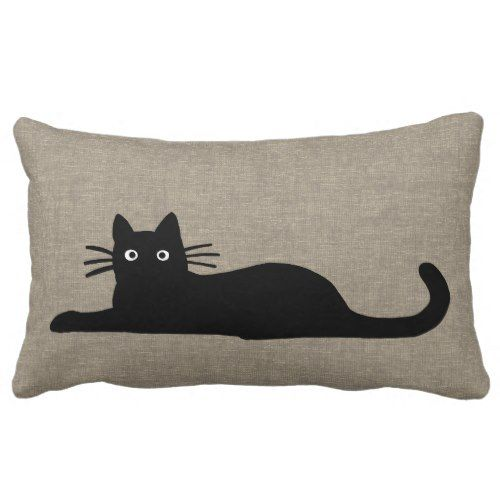 Black Cats Lumbar Pillow. *** Take a look at more at the picture