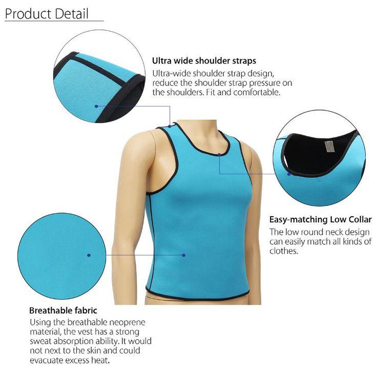Men Body shaping Hot Neoprene Sweat Absorption Slimming Vest