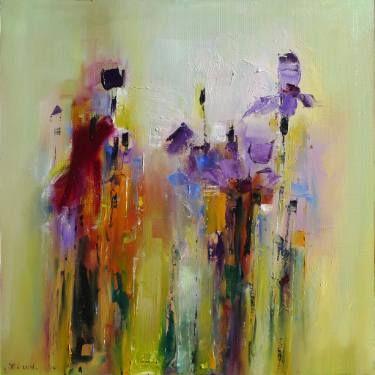"Saatchi Art Artist Popei Ioan; Painting, ""Irises"" #art"