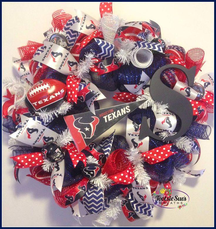 Houston Texans Sports Wreath TootsieSuesWreaths.etsy.com