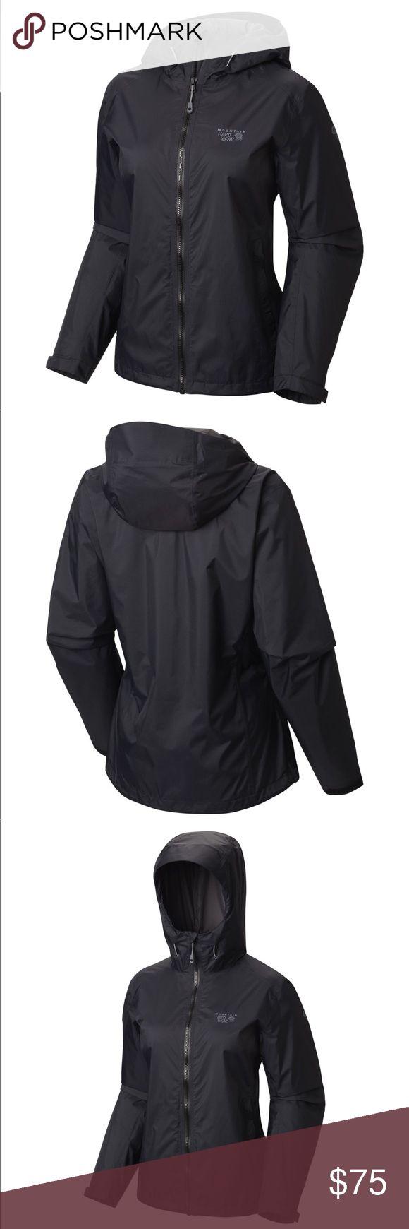 Mountain hardwear rain jacket with hood Like new , never worn No trades please Mountain Hardwear Jackets & Coats
