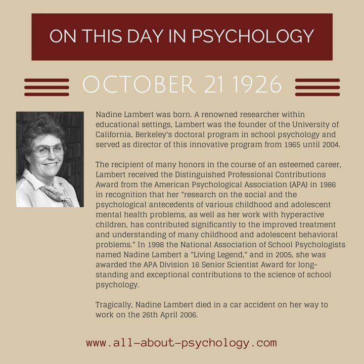 21st October 1926. Nadine Lambert was born. Click on image