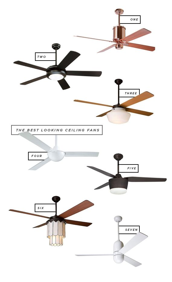 some ceiling fans actually look good! (for bedroom and living room) i ESPECIALLY love that copper one