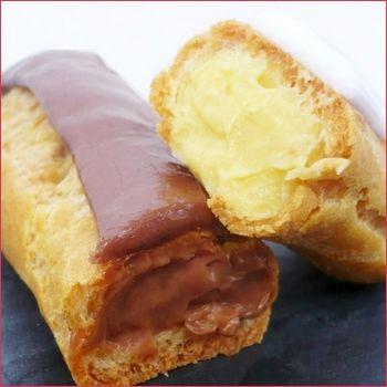 Éclairs au chocolat et à la vanille - Aujourd'hui un des grands classiques de la pâtisserie Française, j'ai nommé : l'éclair ! ^^ . Ici la recette ...