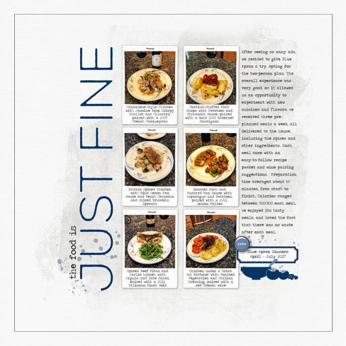 """Documenting our experience with Blue Apron home-delivery dinners the last couple of months, which has been really good.  <br /><br /><br /><span style=""""text-decoration:underline""""><span style=""""font-weight:bold""""><a rel=""""nofollow"""" href=""""http://www.designerdigitals.com/digital-scrapbooking/supplies/product_info.php/products_id/20723"""" target=""""_bla..."""