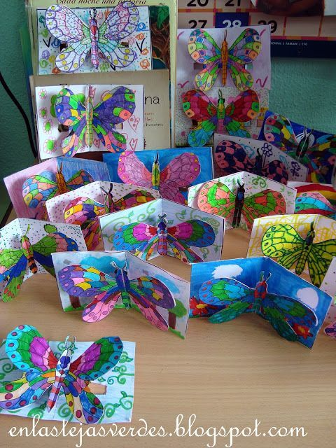 great insect pop-up cards