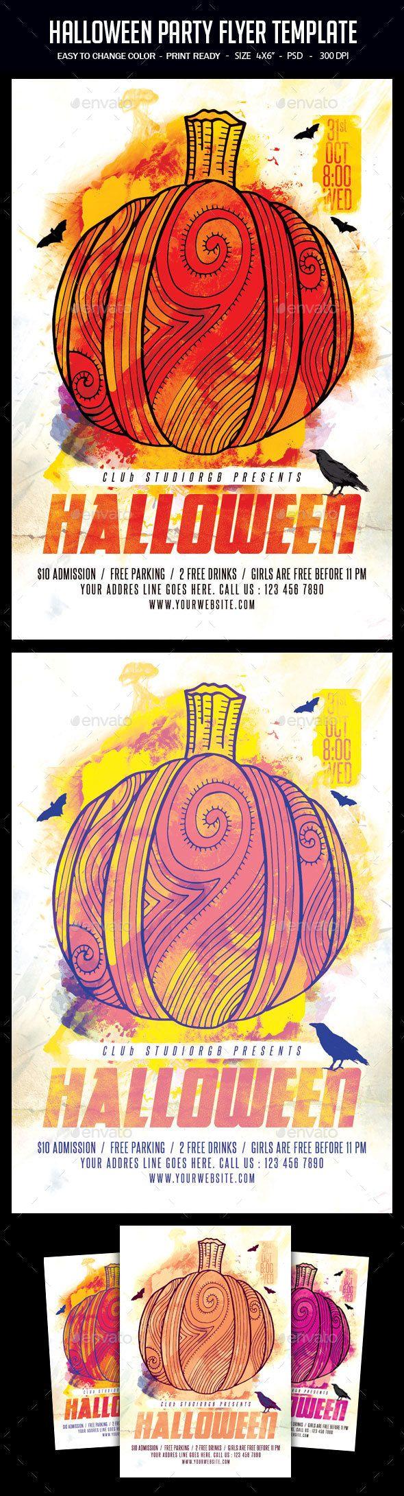 Best 25+ Halloween party flyer ideas on Pinterest   Flyers ...