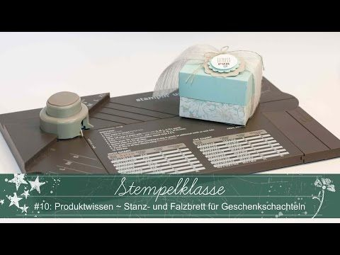 Kleine Pralinen-Schachtel - Stampin' Up! - YouTube