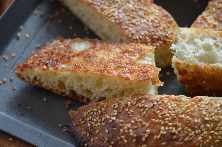 Lebanese talami bread: chewy, airy, good.
