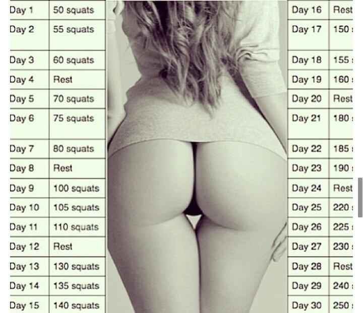 30 Day Squat Challenge: Squats Challenges, 30 Day Squat, Squat Challenge