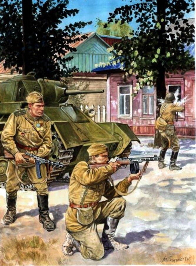 ARMATA ROSSA - Fanteria appoggiata da un carro T-70 -  Marek Szyzsko