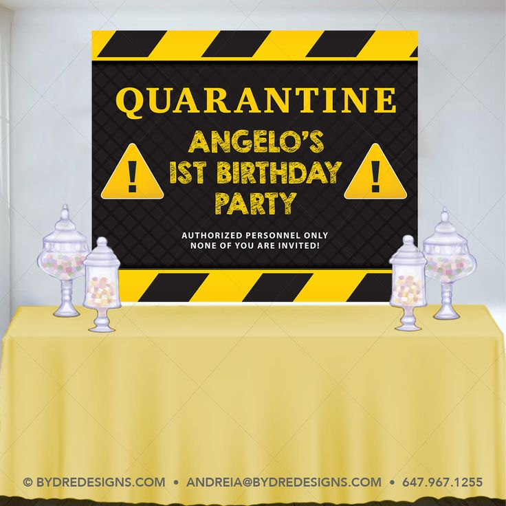 Pin on Quarantine Birthday Party
