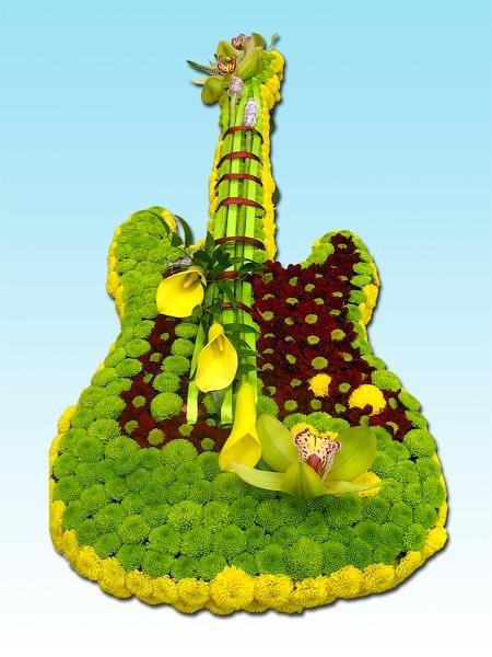гитара из цветов - Яндекс.Картинки