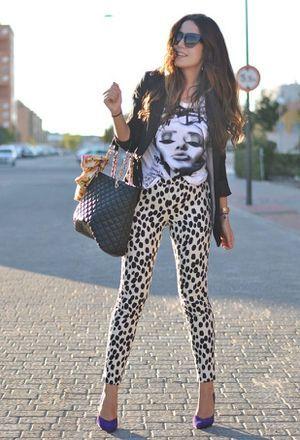 Look by @marta_coelho with #leggins #primark #hm #rock #heels #pants #spring #primavera #black #leopard #pantalones #chic #streetstyle #white #pantalon #jackets #bags #sunglasses #print #comfy #street #aldo #estampados #animal #pitillo #tshirts #love #shine #outfits #printed #looks.