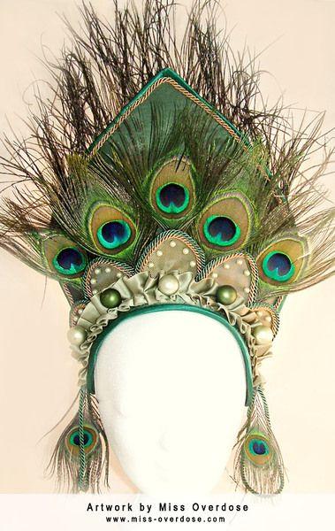 Haarschmuck & Kopfputz - XXL Kopfschmuck auf Maß - ein Designerstück von Miss-Overdose bei DaWanda