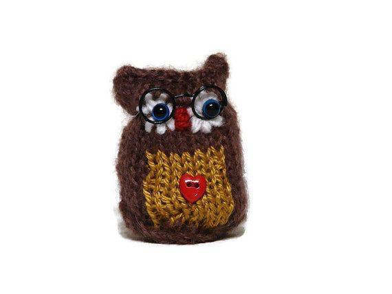 Knitted Owl Amigurumi Owls knitting Gifts for by ...