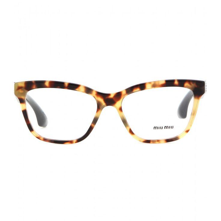 "Miu Miu - Embellished glasses - Miu Miu turns ""geek chic"" on its head and adds a touch of glitz into the equation. - @ www.mytheresa.com"
