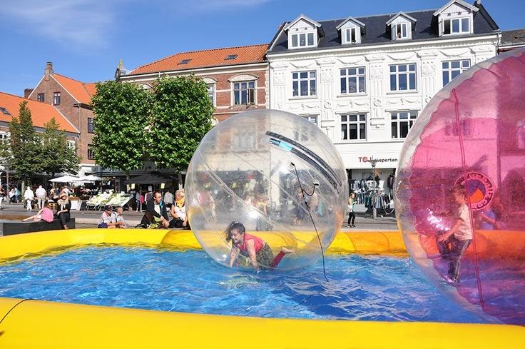 Rådhuspladsen til Danish Clown & Street Performer Festival i Fredericia - 2012