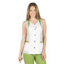 Bata de señora sin manga CAROL Verde Oliva - Garys 6092