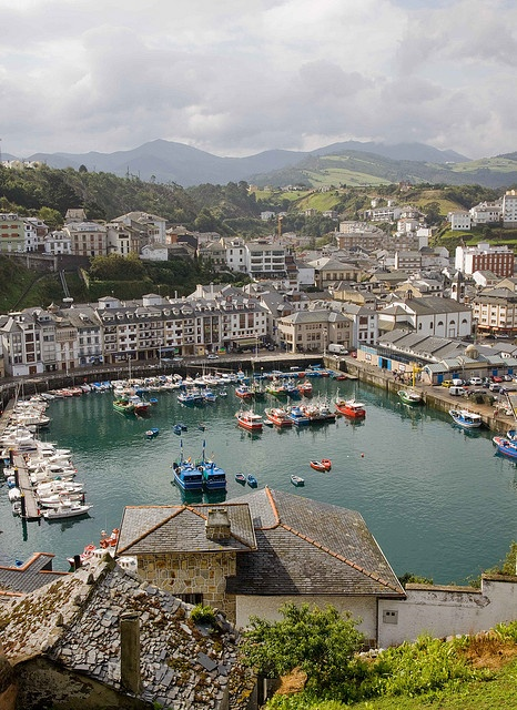 Luarca harbour, Asturias, Spain