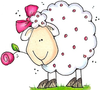 sheep with rose