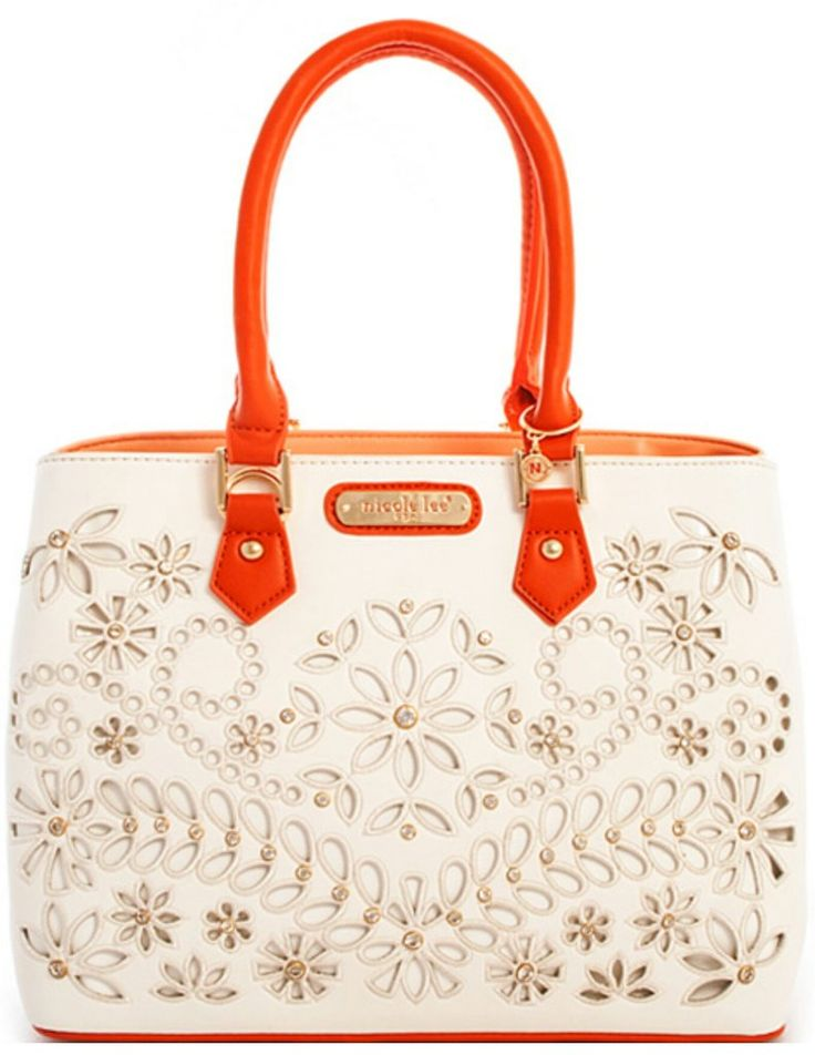 Nicole Lee Astrid Floral Laser Cut Tote Bag