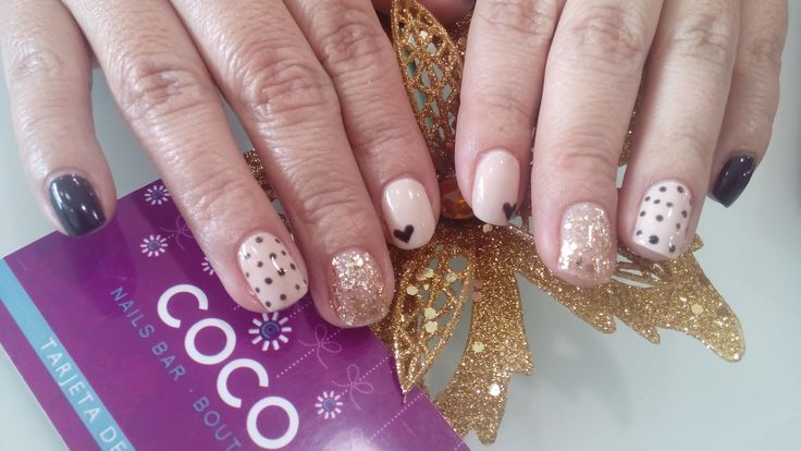 Gelish All that glitters is gold, Gelish Need a tan, OPI GEL Black dress not optional