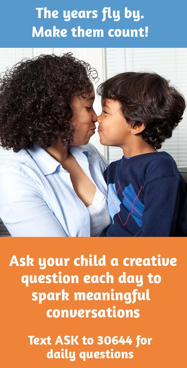 Get surprising, funny, insightful answers from your kids when you ask them a creative question each day. To get questions on your phone each day for free, visit q4kidz.org/p. Q4KIDZ is a project of ParentsTogether. Message and data rates may apply. Text STOP to end, HELP for help. From time to time, we may send you updates on important issues affecting families. Available in the U.S. only.