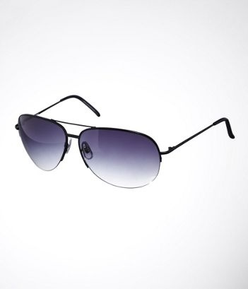 OVERSIZED RIMLESS AVIATOR SUNGLASSES at Express