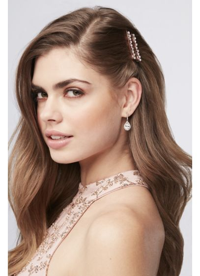 Rose Gold Crystal Bobby Pins Style BP7942, Rose Gold