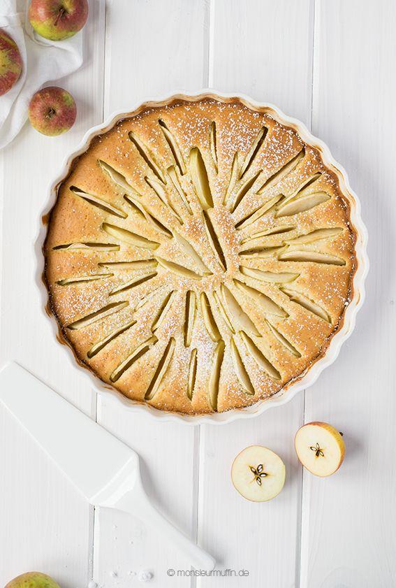 Lovely Heute verrate ich euch ein feines Rezept f r einen Apfel Marzipan Kuchen Mit