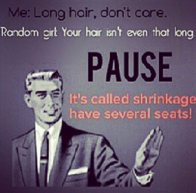 Don't let the shrinkage fool you. Our hair is often twice as long (or even more) than it looks.