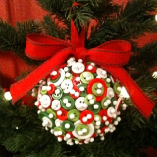 Christmas Button Ornament