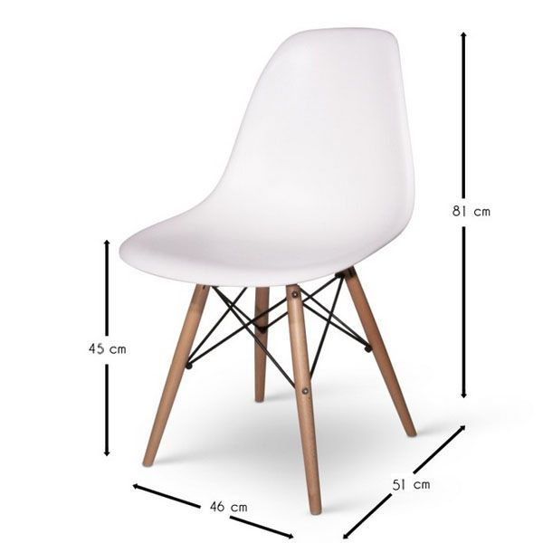 32 best stoelen images on pinterest folding chair bistro chairs - Copie chaise eames dsw ...