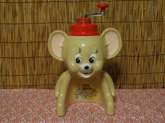 タイガー きょろちゃん かき氷機 (トム&ジェリー) - 「宝の森」 レトロ雑貨、フィギュア、玩具のリサイクルショップ