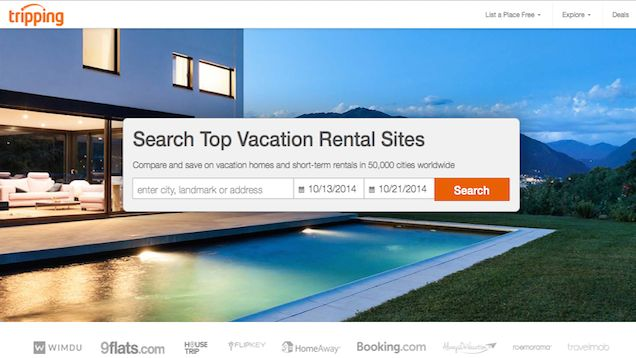 Tripping Searches Multiple Vacation Rental Sites at Once