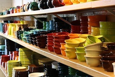Fiesta. In search of dinner ware I love and I keep coming back to these. Think I'll need 1 set of every color.