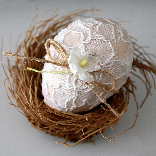 lacy egg #easter #decor  #spring