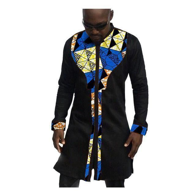 African Mens Shirts, Fashion Kitenge Dashiki Shirt, Men African Clothing